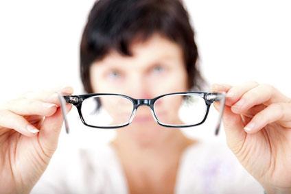 Anprobe der Brille